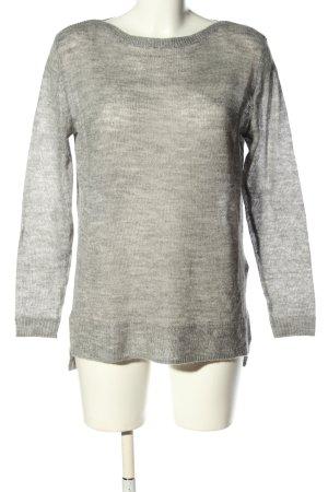 Esprit Pull en laine gris clair moucheté style décontracté
