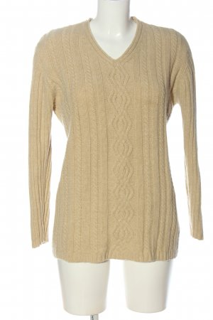 Esprit Wollpullover creme Zopfmuster Casual-Look