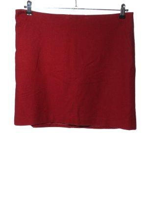 Esprit Falda de lana rojo look casual
