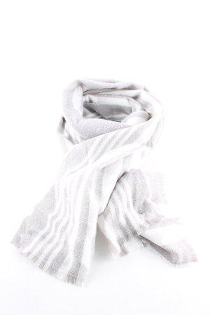 Esprit Bufanda de lana blanco-gris claro estampado a rayas look casual