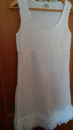 Esprit wunderschönes Sommer leichtes Leinen Kleid weiß Gr.38 NEU