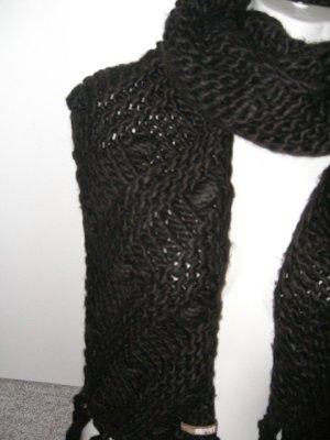 Esprit Écharpe en tricot brun rouge laine