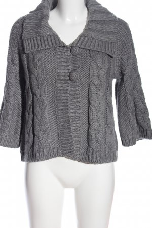 Esprit Cable Sweater light grey cable stitch business style
