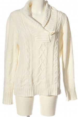 Esprit Cable Sweater cream cable stitch casual look