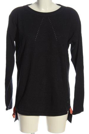 Esprit Warkoczowy sweter czarny W stylu casual