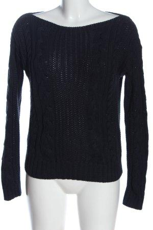 Esprit Maglione intrecciato nero stile casual