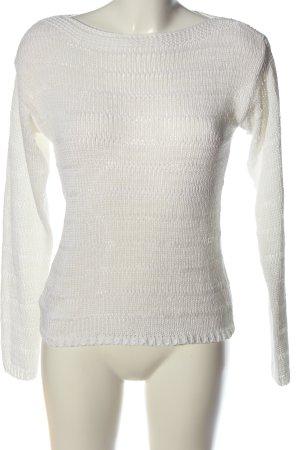 Esprit Jersey trenzado blanco look casual
