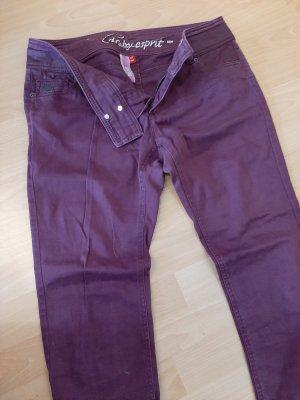 Esprit pantalón de cintura baja violeta amarronado