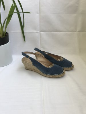 Espsdrilles-Sandalen aus Veloursleder