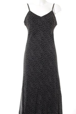 Essadress Trägerkleid schwarz-weiß Punktemuster