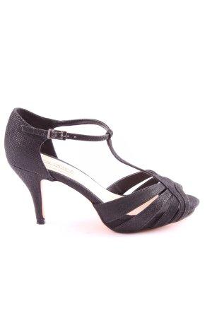 Essence Membur T-Steg-Sandaletten schwarz Casual-Look