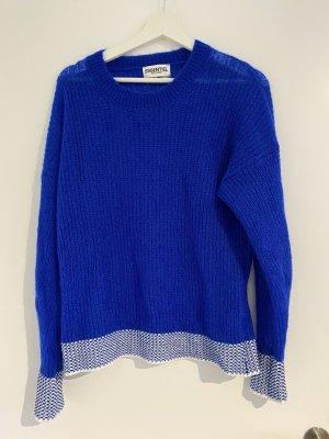 Essentiel Antwerp Pull tricoté blanc-bleu
