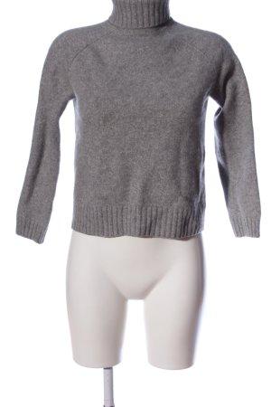Essentials Pullover in cashmere grigio chiaro puntinato stile casual