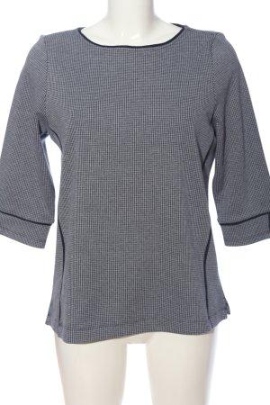 Essentials Langarm-Bluse hellgrau Karomuster Casual-Look