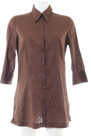 Essentials Long-Bluse braun Business-Look