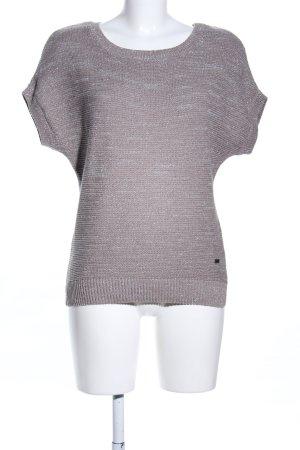 Essentials Strickshirt wollweiß-silberfarben meliert Casual-Look