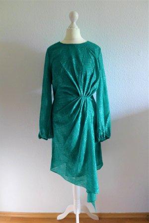 Essentiel Antwerp Abendkleid Rangers grün 80er vintage Style Gr. 36 S