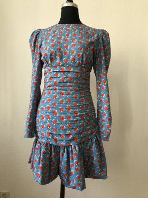 "Essentiel Antwerp Dress ""Tree"" Blumenmuster hellblau 36"