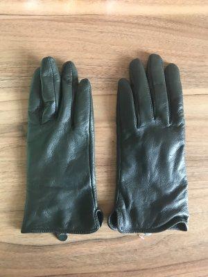 Essentiel Antwerp Leren handschoenen donkergroen