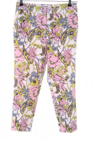 Essentiel Antwerp High-Waist Hose creme-pink Blumenmuster Casual-Look