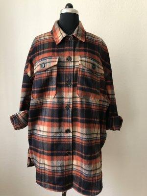 Essentiel Antwerp kariertes Hemd/ Jacke rot, beige, schwarz oversized S/M