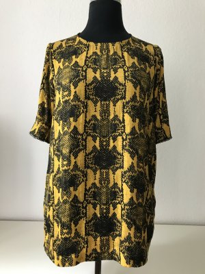 Essentiel Antwerp Kurzarm Top goldgelb, Snakeprint