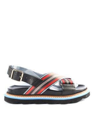Essentiel Antwerp Plateauzool sandalen gestreept patroon casual uitstraling