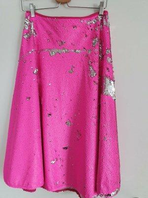 Essentiel Antwerp Spódnica z koła różowy-srebrny Poliester