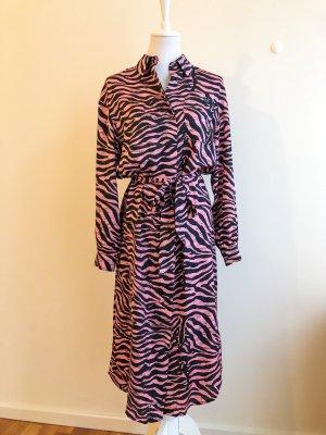 Essentiel Antwerp Rosa Hemdkleid mit Zebraprint | Neu | Neupreis € 245