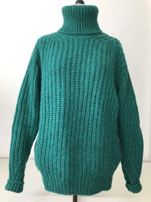 Essentiel Antwerp Smaragdgrün Rollkragenpullover chunky knit S