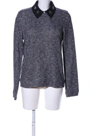 Essentiel Antwerp T-shirts en mailles tricotées gris clair-noir moucheté