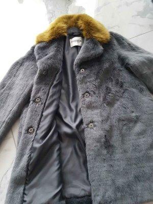 Essentiel Antwerp Cappotto in eco pelliccia argento