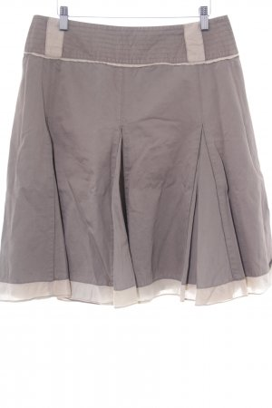 Essentiel Falda globo marrón-blanco puro elegante