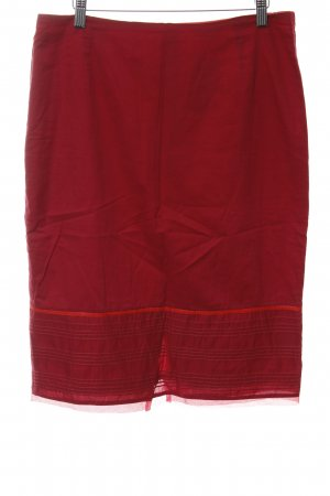 Essentiel Bleistiftrock rot Streifenmuster Casual-Look