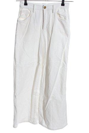 Essentiel Spodnie sztruksowe w kolorze białej wełny W stylu casual