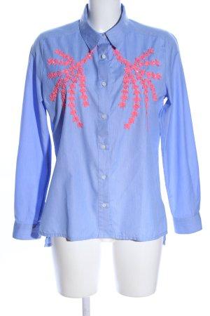 Essentiel Langarmhemd blau-pink Business-Look
