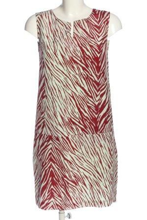 Essentiel Mini Abito bianco-rosso stampa integrale stile casual