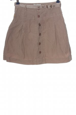 Essentiel Minigonna bianco sporco-marrone motivo a righe stile casual