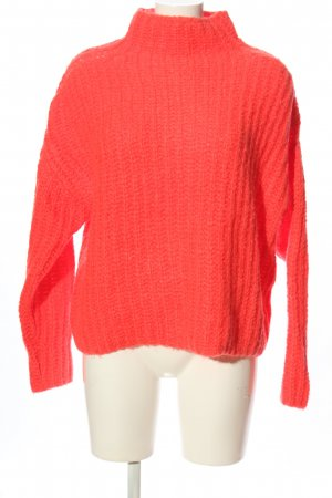 Essentiel Maglione oversize rosso punto treccia stile casual
