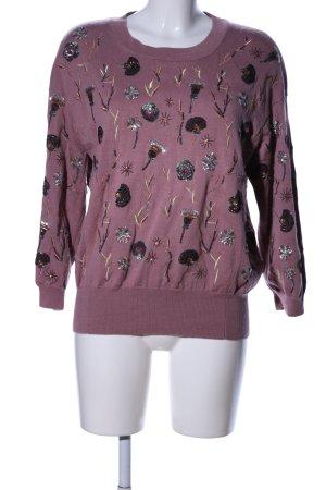 Essentiel Strickpullover pink Motivdruck Casual-Look