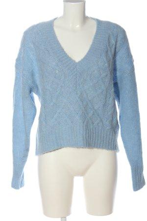 Essentiel Maglione con scollo a V blu stile casual