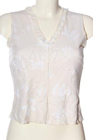 Essenza Blusa senza maniche bianco sporco-bianco caratteri stampati