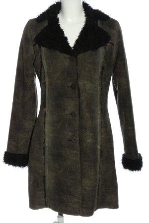 Essenza Cappotto invernale cachi-nero puntinato stile casual
