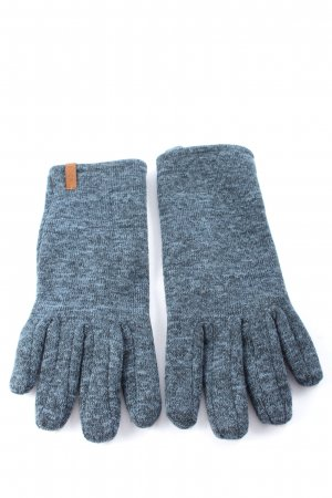 est. Knitted Gloves light grey-blue flecked casual look