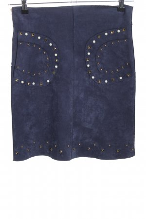 Estelle Faux Leather Skirt blue casual look