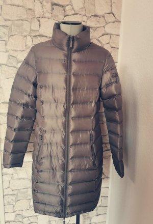 Etage Danish Outwear Jacke Parka Daunenjacke Gr S greige taupe