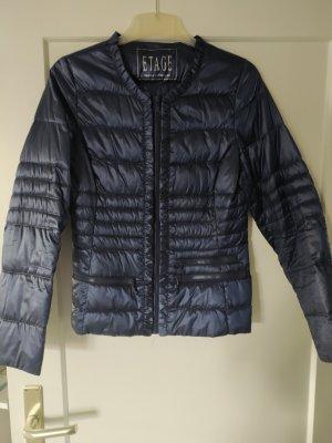 Etage leichte Daunen Jacke blau gr.34 Übergangsjacke