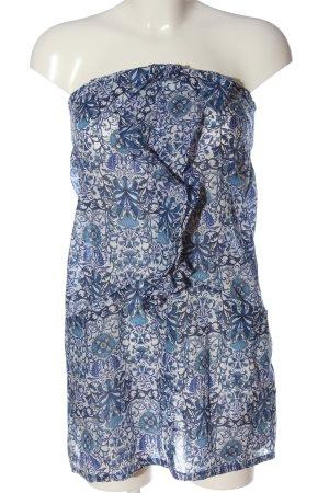 Etam Bandeau Dress white-blue abstract pattern casual look