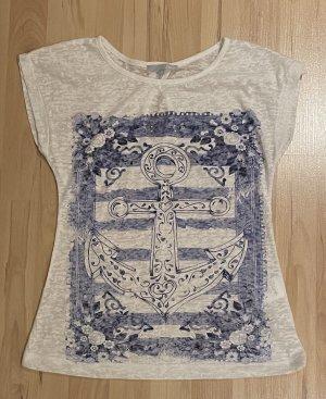 Etam T-shirt bianco-blu