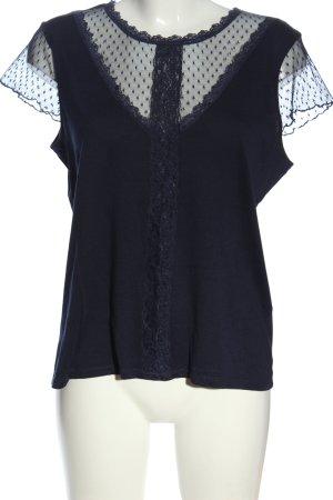 Etam Kurzarm-Bluse blau Casual-Look